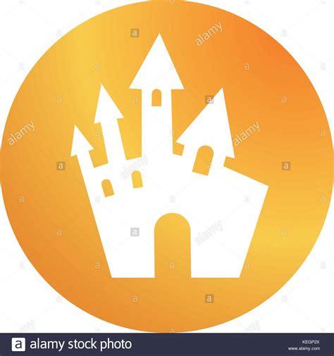 design icon orange castle vector vectors stock photos castle vector vectors