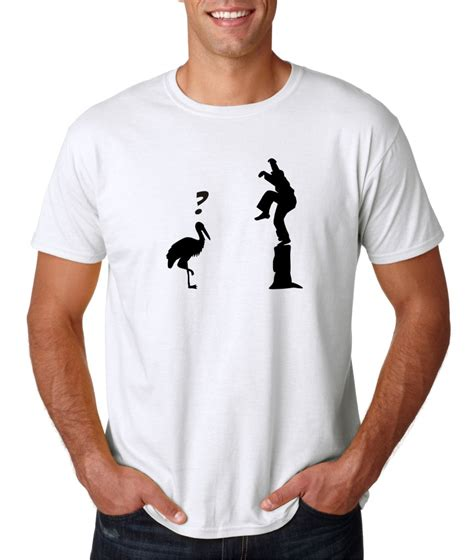 Tshirt Baju Kaos Evolution Karate mens crane kick pose master karate kid t shirt