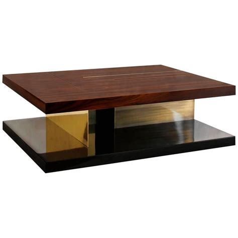 Chloe Coffee Table With High Glossy Lacquer Veneer Wood Glossy Coffee Table