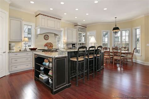 white kitchen with black island pictures of kitchens traditional two tone kitchen cabinets page 4