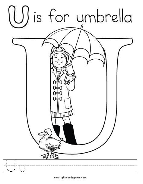Alphabet Coloring Pages U Coloring Page