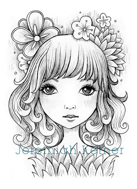 digital art coloring page on my mind digital coloring page