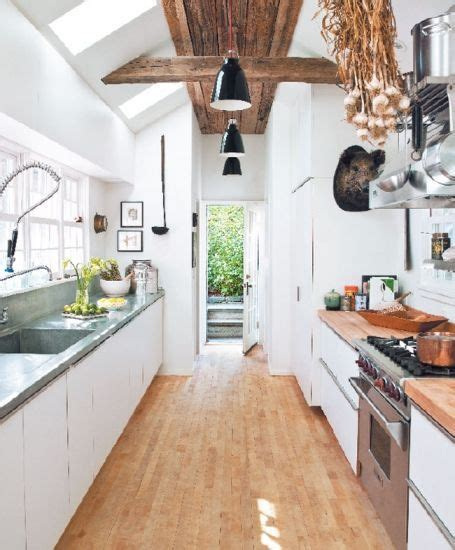 galley kitchen definition for hardwood floors design chic using hardwood