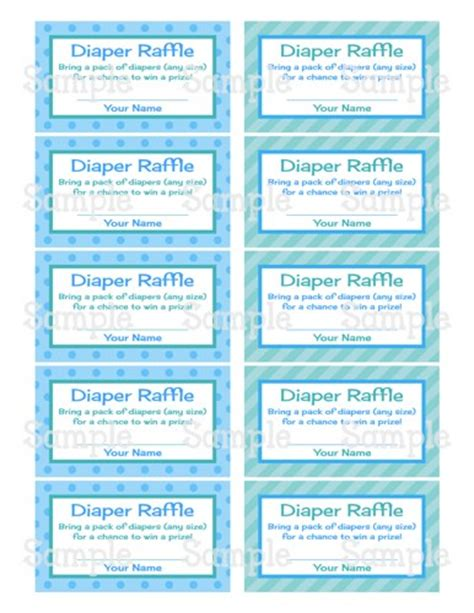 baby shower raffle template 8 best images of free printable baby raffle tickets free