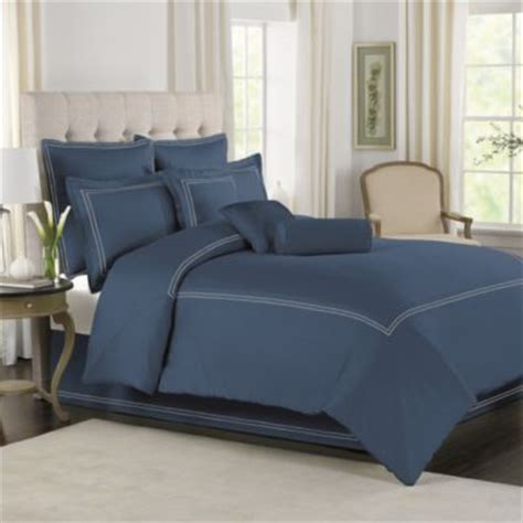 buy solid blue comforter set full from bed bath beyond