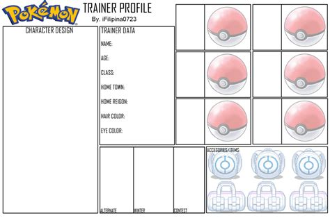 blank trainer card templates blank trainer profile by ifilipina0723 on deviantart
