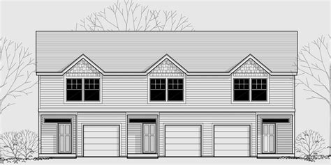 townhouse plans with garage triplex house plans small townhouse plans triplex house
