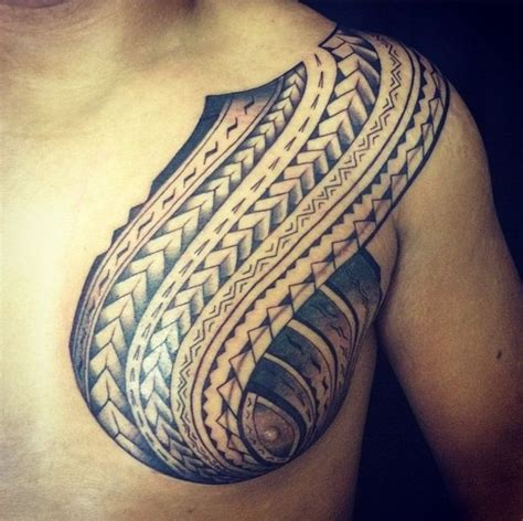 side chest tattoo http tattooideas247 polynesian tribal chest