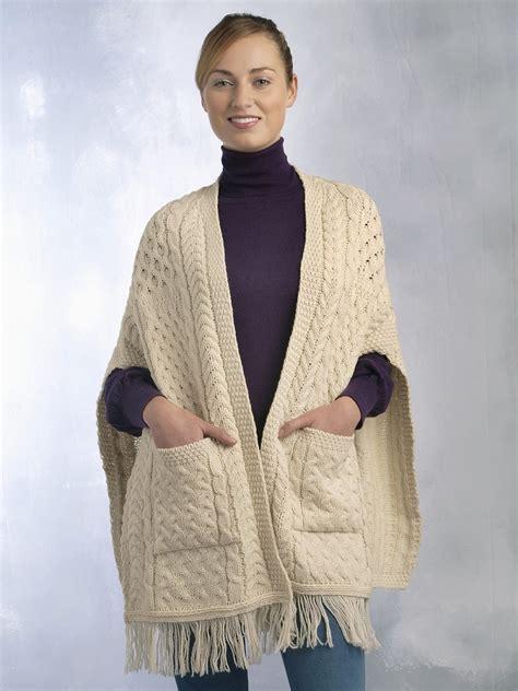 knit wrap aran accessories