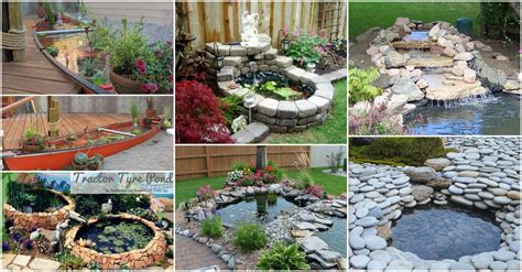 diy backyard landscaping design ideas 15 diy backyard pond ideas