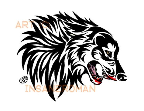 snarling wolf tattoo designs 32 best wolf tribal designs images on
