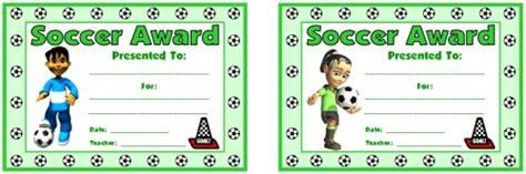 Pe Award Certificates Soccer Award Template