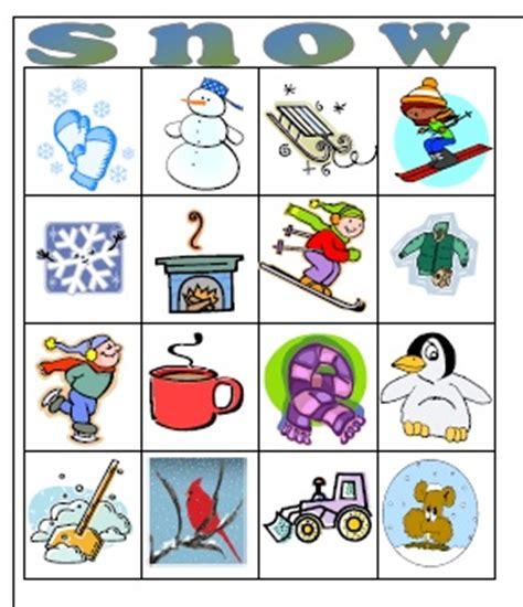 Winter Bingo Card Template by 6 Best Images Of Snowman Bingo Printable Free Printable