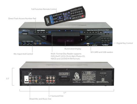 multi format dvd player with usb vocopro dvx 890pro multi format usb dvd cd g player