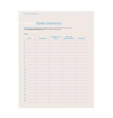 Inventory Sheet Template 14 Free Excel Pdf Documents Download Free Premium Templates Inventory Template Pdf