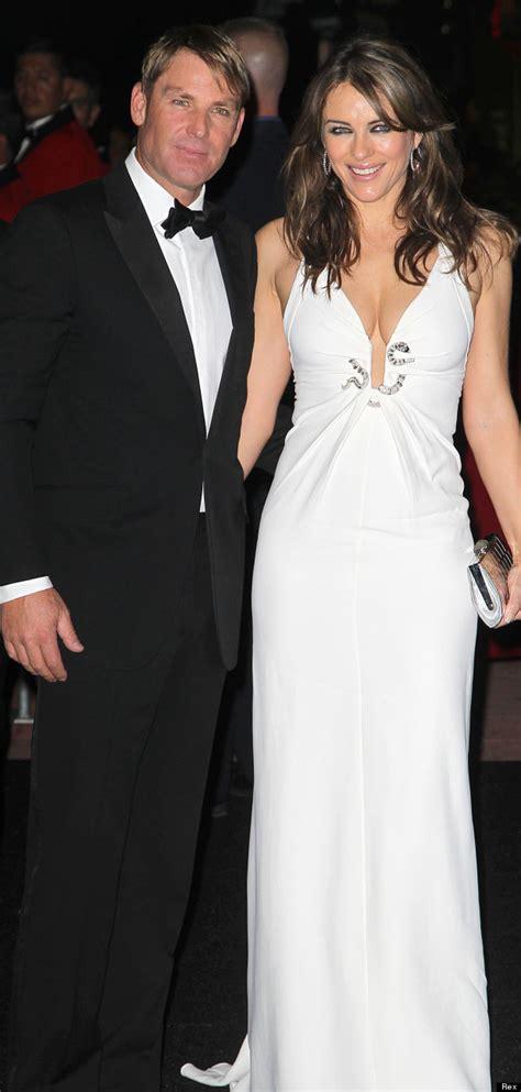 Date Set For Hurley Wedding by David Furnish S Birthday Liz Hurley Wears Bridal