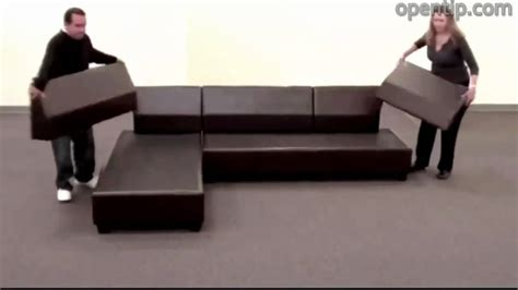 tube couch poundex 3pcs hungtinton sectional sofa set ottoman
