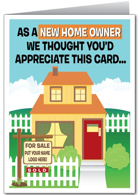 printable greeting cards new home real estate greeting cards
