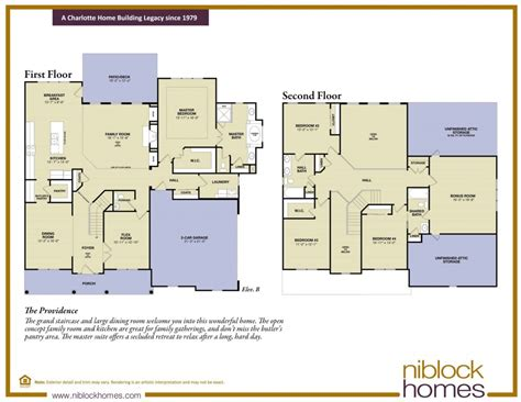 providence floor plan floor master bed niblock homes
