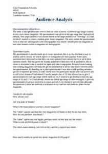 Audience Analysis Essay Exle by Audience Analysis Pdfsr