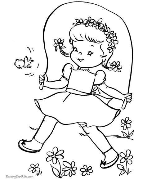 cute spring coloring sheet 021