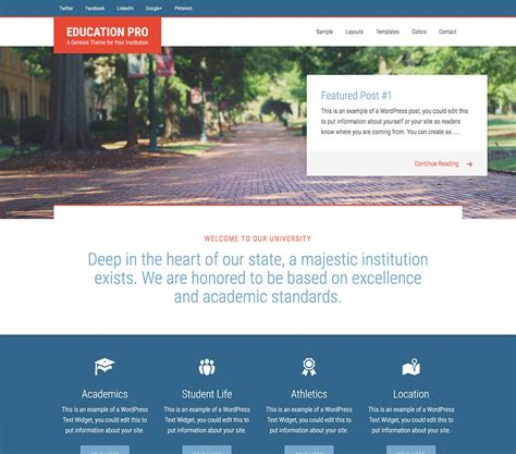 genesis education pro theme by studiopress academic standard studiopress education pro theme just 19 99 no