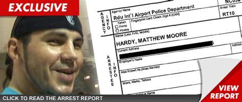 More Details Of Richies Dui Arrest by Wrestler Matt Hardy Another Dui Arrest Tmz