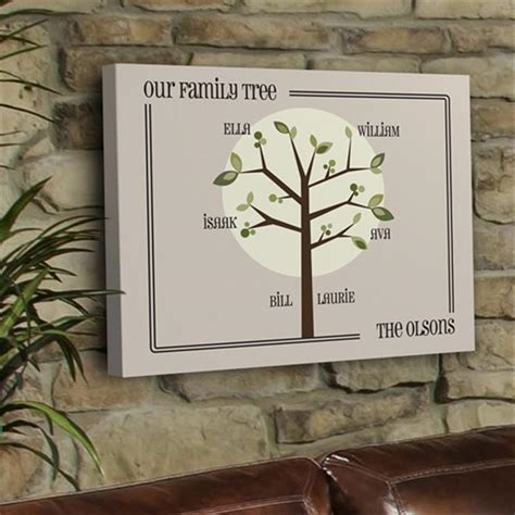 printable family tree gift personalized modern family tree print 229672