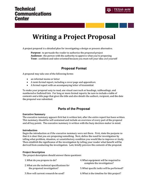 layout project proposal informal proposal letter exle writing a project