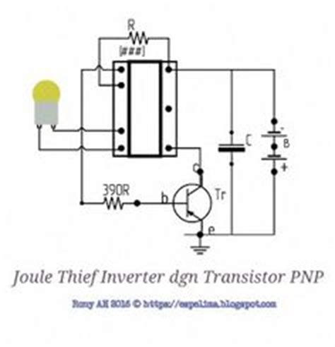 neo joule thief inverter 1 5v to 220v ac led light skema circuit jt joule thief