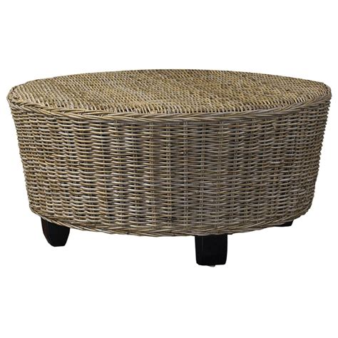 round rattan ottoman coffee table hotel caribe round ottoman coffee table gray kubu