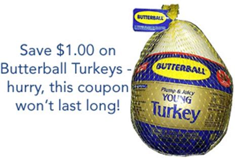 printable butterball turkey coupons save 1 off butterball fresh or frozen turkey coupon