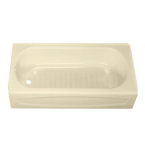 bathtub bone american standard new solar 5 ft left drain soaking