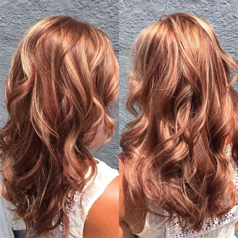chocolate red hair on pinterest red blonde highlights pictures red and blonde highlights hair black hairstle