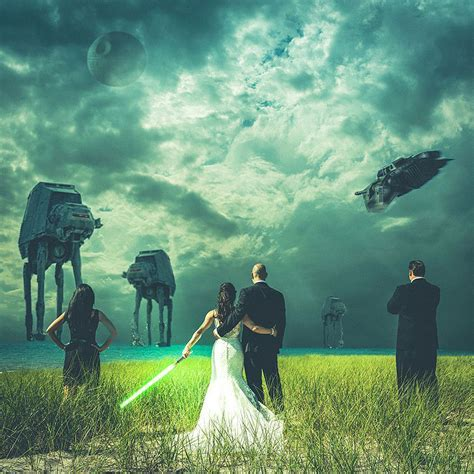 Did you see this crazy wedding photo montage?
