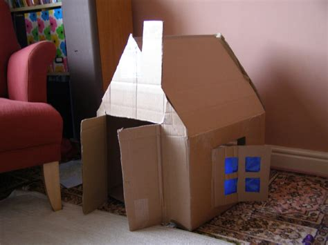 cardboard box house create with your hands creativity with cardboard boxes house