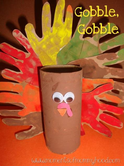 Toilet Paper Turkey Craft - toilet paper roll turkey