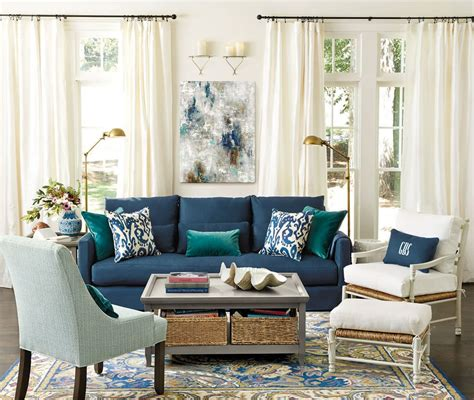 Blue Sofa Decor by Living Rooms Ideas For Decorating Blue Living Blue