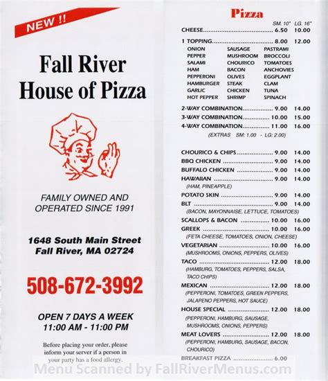 fall river house of pizza fall river house of pizza fall river restaurants