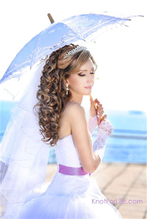 wedding hairstyles curly down with veil long wedding hairstyles with veils and tiaras knot for life