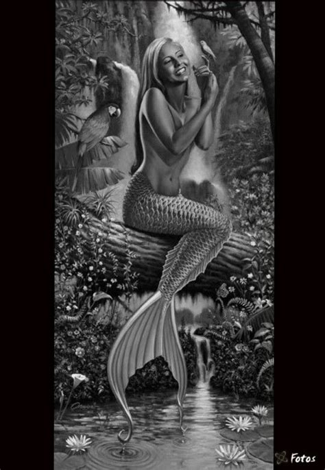 mermaids grayscale coloring book coloring books for adults books sirens legends and on