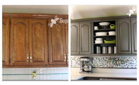 frugal kitchen cabinet makeover the happy housewife kitchen cabinet makeovers 10 diy kitchen cabinet makeovers