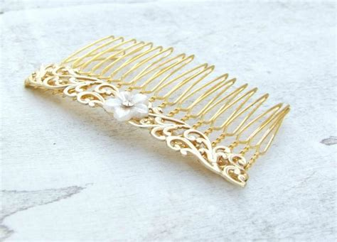 Vintage Style Wedding Hair Pieces by Vintage Style Hair Comb Gold Hair Vintage Style