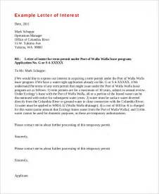sle letter of interest 8 exles in word pdf