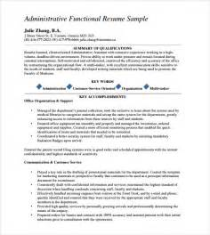 resume templates for administrative administrative assistant resume 8 free