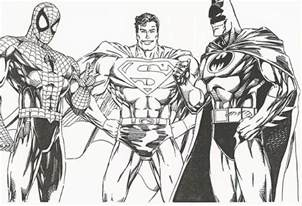 batman superman colouring pages