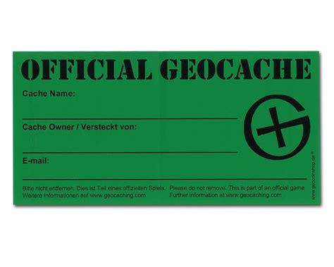 Folien Aufkleber Beschriftbar by Wetterfester Geocaching Aufkleber Geocoinshop De
