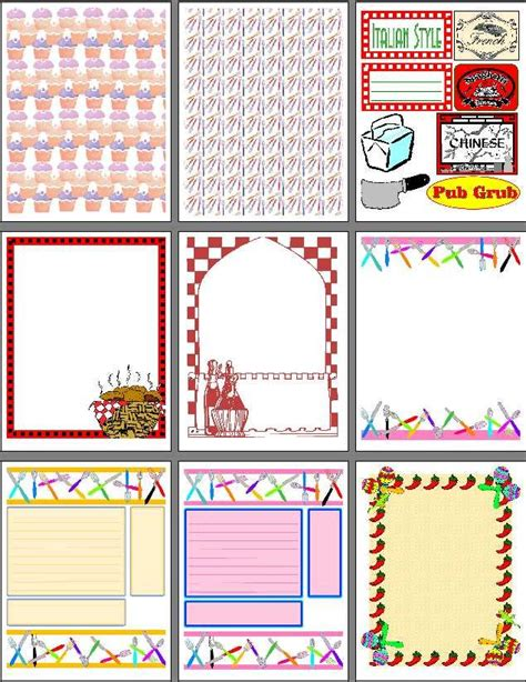 scrapbook layout templates printable printable scrapbook pages for recipe scrapbooks smash