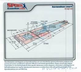 horseshoe pit dimensions diagram horseshoe wiring
