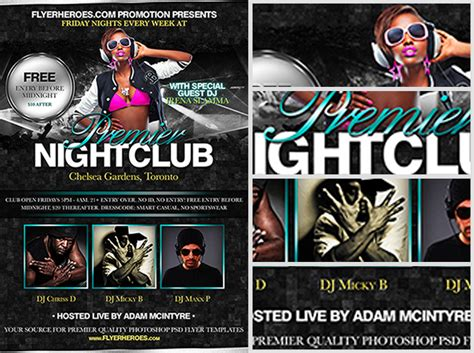 free nightclub flyer design templates free nightclub flyer templates images template design ideas
